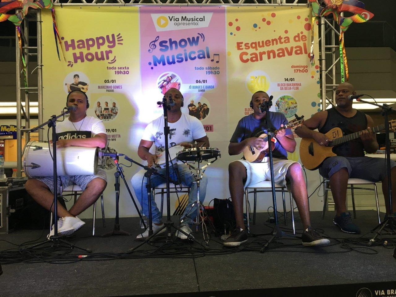 Show Samba do Gota Shopping Via Brasil - Agência DosReis - Live Marketing