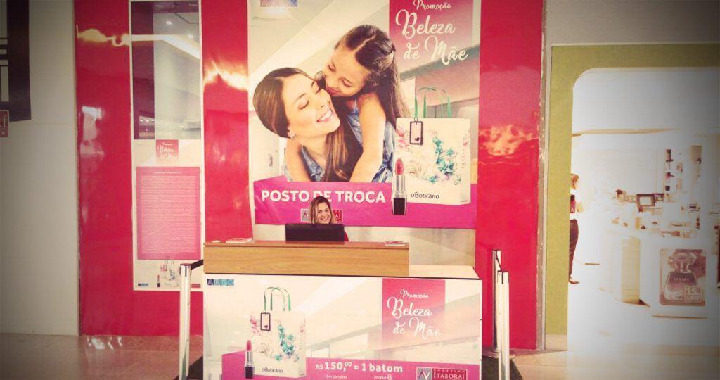Stand promocional - Shopping Itaboraí Dia das Mães - Agência DosReis Live Marketing